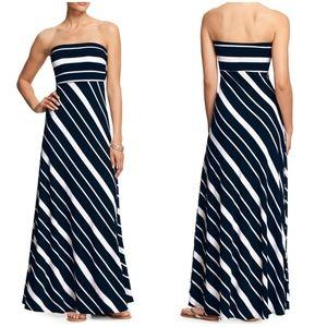 Banana Republic strapless striped maxi dress
